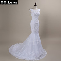QQ Lover 2019 New Lace Mermaid Wedding Dresses Plus Size Bridal Alibaba Cheap Vestido De Noiva