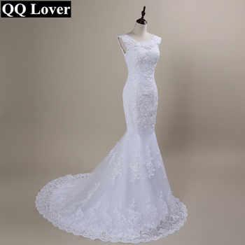 QQ Lover 2020 New Lace Mermaid Wedding Dresses Plus Size Bridal Alibaba Cheap Vestido De Noiva - DISCOUNT ITEM  22 OFF Weddings & Events