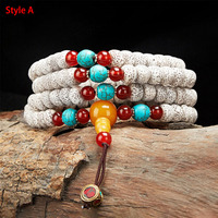 Hainan 5A Natural Star Moon Bodhi Seed 108 Mala Bracelet Buddha Beads Necklaces Men /Women Tibetan Multi circle Strand Bracelets