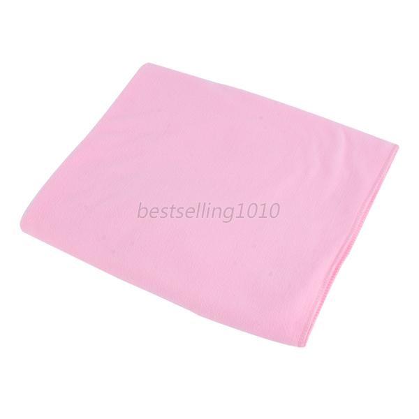 70*140 см большое полотенце для ванны быстросохнущее микрофибра Спорт Пляж плавать путешествия Кемпинг мягкое полотенце s - Цвет: light pink