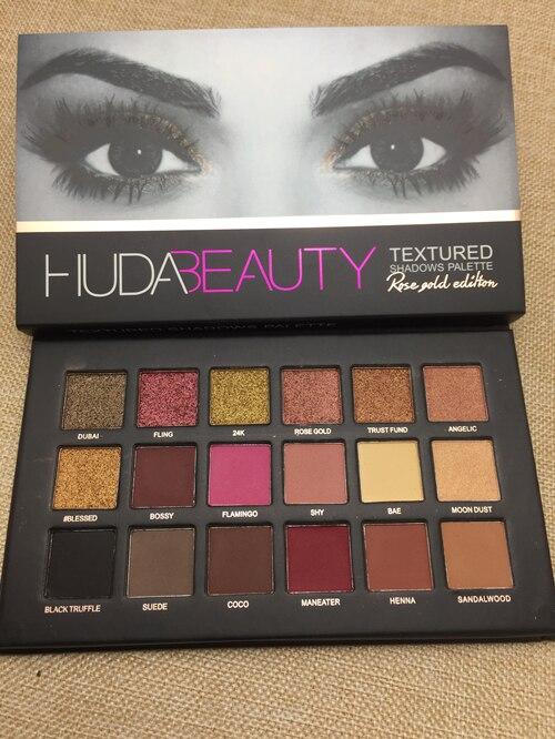 Paleta Hudas Beleza Cores SELO 18 Paleta Fosco Sombra Glitter Shimmer Eyeshadow Palette Make Up Set Beleza Fosco Sombras