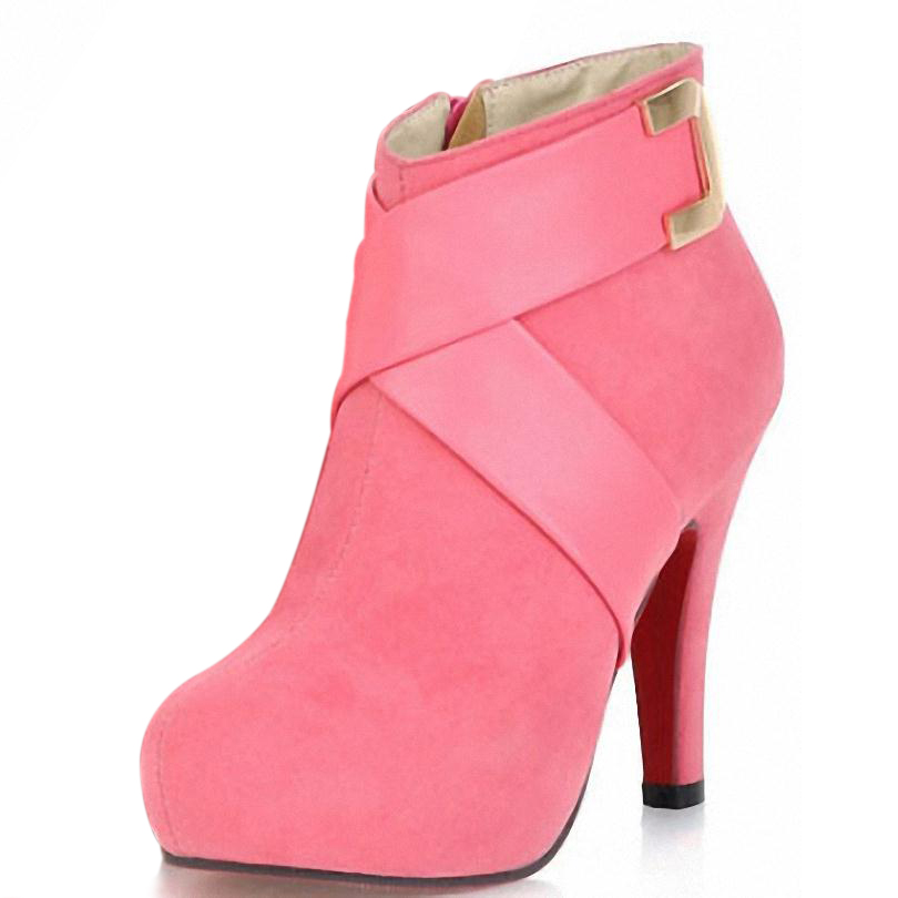 Aliexpress.com : Buy Pumps Black Red Pink Ankle Boots ...