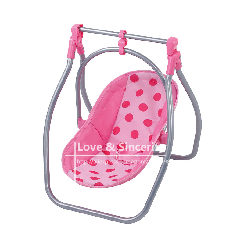2pcs In1, Multi function Cradle and Feeding Table For 43cm Dolls Baby Reborn Furniture