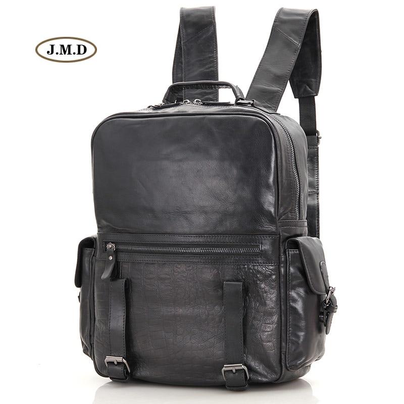 J.M.D New Arrivals Genuine Leather Classic Design Unisex Fashion Backpack Bag School Bag Rucksack Bag for Young People 7355