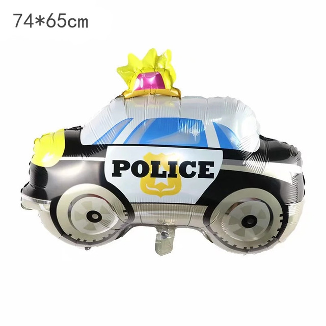 Cartoon Car Balloon Fire Truck Car Train Foil Balloon Ambulance Globos Children Gifts Birthday Party Decorations Kids balls 1set in Ballons Accessories from Home Garden