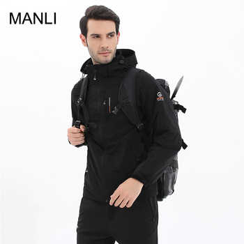 MANLI 2018 New Spring Autumn Mens Softshell Hiking Jackets Male Outdoor Camping Trekking Climbing Coat For Waterproof Windproof - DISCOUNT ITEM  40% OFF Sports & Entertainment