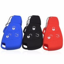 2/3 Buttons 3 Colors Car Key Cover Case For Mercedes For Benz B C E ML S CLK CL Fob Cover Holder Keyless Entry Protective Shell