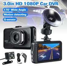 "Dash Cam Dual Lens Car DVR Camera Full HD 1080P 3"" IPS"