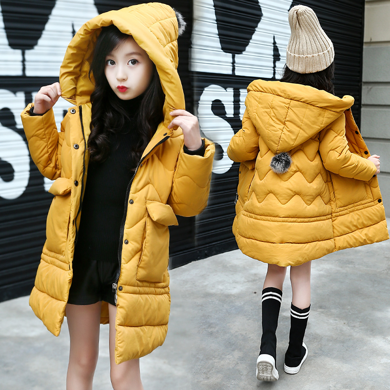 2018 Baby Girls Cotton-padded Outerwear & Coats Winter Children Clothing Fashion Casual Cotton Jacket Coat Kids Clothes 5-12 Y meetbud new arrival winter autumn outwear children clothing baby girl jacket fashion fur coat casual cotton girls kids outerwear