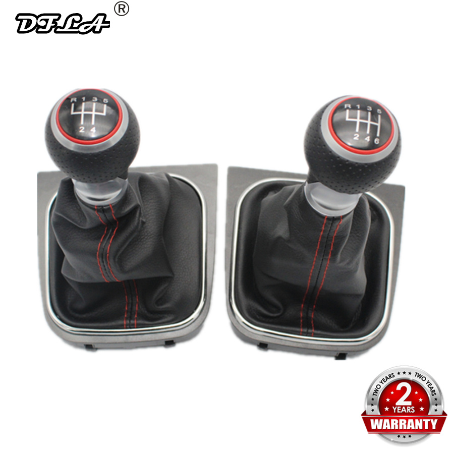 For VW Golf 5 MK5 R32 GTI GTD 2004 2005 2006 2007 2008 2009 New 5 /6 Speed Car Gear Stick Level Shift Knob With Leather Boot-in Gear Shift Knob from Automobiles & Motorcycles