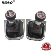 For VW Golf 5 MK5 R32 GTI GTD 2004 2005 2006 2007 2008 2009 New 5 /6 Speed Car Gear Stick Level Shift Knob With Leather Boot(China)