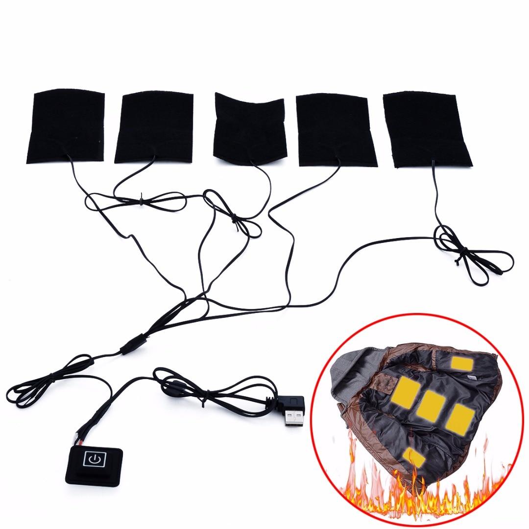1 satz Elektrische Heizung Pads 8,5 watt Thermische Kleidung Wärmer Beheizten Jacke Mobile Erwärmung Getriebe Schalter Für DIY Erhitzt Kleidung mayitr