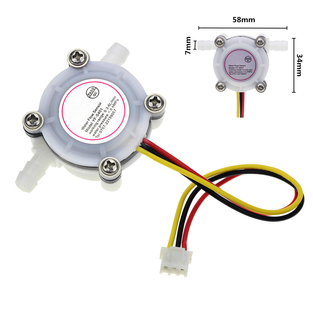 Water Flow Sensor 0.3-6L/min Switch Meter Flowmeter Counter Sensor Water Control 1/4