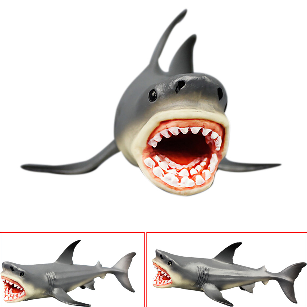 Animal Figures Megalodon Prehistoric Shark Ocean Collection Educational Toy Action Figure Model Kids Toy For Kid Children Gift