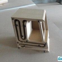 IWISTAO HIFI динамик пустой шкаф наборы лабиринт структура с высокой плотности ДВП для 2,54 дюймов полный спектр Spk блок DIY