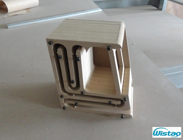 IWISTAO HIFI Speaker Empty Cabinet Kits Labyrinth Structure With High-density Fibreboard For 2.54 Inches Full Range Spk Unit DIY