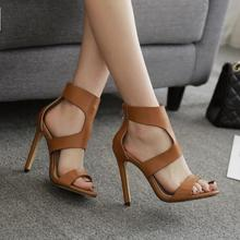2018 Fashion Womens Sandals Sexy Party Platform Pumps Summer High Heels Lady aa0718