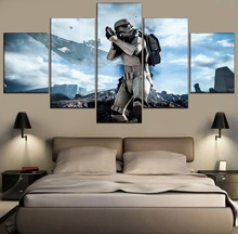 Canvas Modular Pictures For Living Room Home Decorative Framework 5 Pieces Movie Star Wars Paintings HD Prints Wall Art Poster