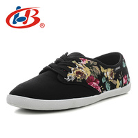 LIBANG Comfortable Flat Shoes Women With Flowers Print New Arrival Luxury Shoes Women Designers Autumn Women
