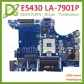 KEFU LA-7901P для Dell E5430 материнская плата для ноутбука 0T7NXT T7NXT QXW00 LA-7901P PGA 989 DDR3 оригинальный тест 100% работа