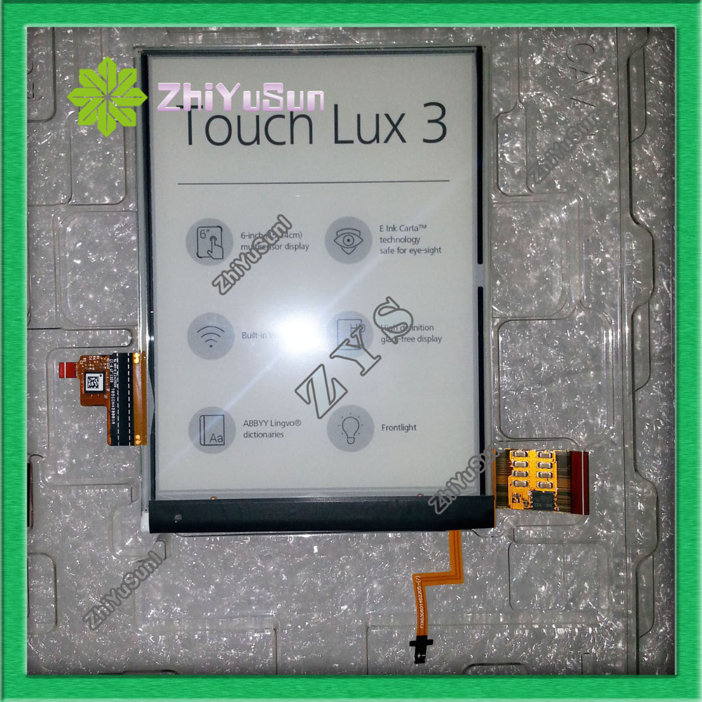 For Pocketbook Touch lux 3 Pocketbook Touch lux3,Touch Lux3 screen,100% NEW ED060XD4 C2-00 ver.1 E-ink eink screen,Free shipping