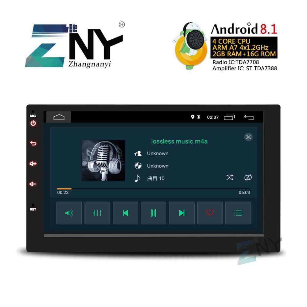 "2019 Super Slim Ontwerp 7 ""HD Android 8.1 In Dash Auto Stereo GPS Navigatie Auto Radio FM RDS Audio video WiFi Multimedia Systeem"