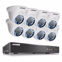 ANNKE HD 1080P 8CH CCTV System 8 Channel DVR KIT 1080P Video Recorder 8pcs 3000TVL 2MP