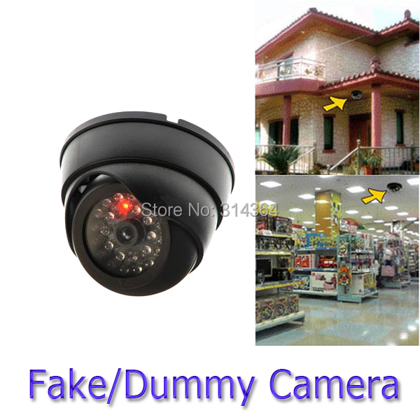 4pcs/lot Indoor Dummy Fake Dome Security Camera with Flashing LIGHT Surveillance  black For Office Garden Store Wholesale hkes wholesale 8pcs lot free shipping indoor ir dome ip camera with microphone