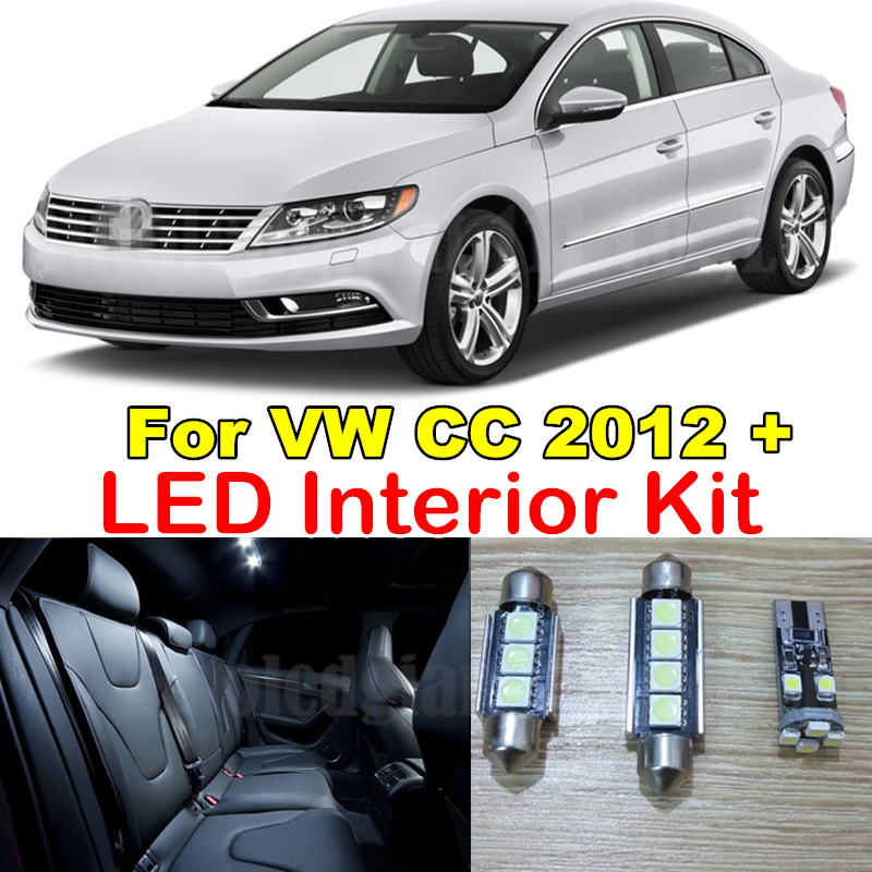 WLJH White Canbus Dome Mirrors Trunk Puddle Light Package For Volkswagen VW CC Interior LED Light Kit  2012 2013 2014 2015 11X white canbus car led dome map mirrors puddle trunk lighting package for audi q5 sq5 led interior light kit 2009 2013 22x