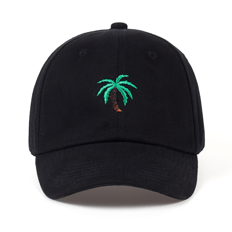 Fashion Cap Women Men Summer Spring Cotton Caps Women Coconut tree Solid Adult baseball Cap Snapback Women Cap 2017 women cap skullies