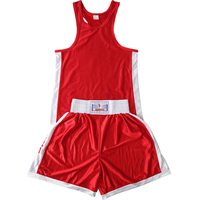 Kids Adults MMA Muay Thai Boxing Shorts+Tops T Shirts Sleeveless Kickboxing Martial Arts Sparring Boxer Clothes Set Outfits EO