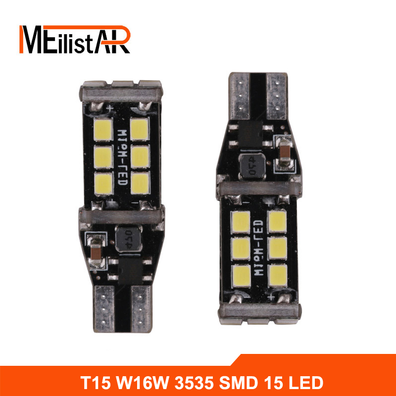 2 X T15 W16W 921 LED CANBUS Extreme CREE 3535 Chip LED High Power Light Bulbs Compatible with T10 W5W LED Bulbs fog G2 parking carprie super drop ship new 2 x canbus error free white t10 5 smd 5050 w5w 194 16 interior led bulbs mar713