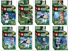 8pcs/set Star Wars Minifigures The Force Awakens Kylo Ren Yoda Building Blocks Figures Bricks Toys Compatible with