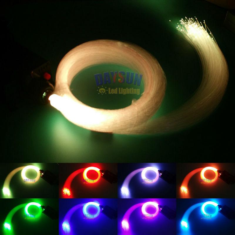ФОТО 2016 New DIY Ceiling Lamp 16W RGB LED Fiber Optic Star Ceiling Light +4 Keys RF Remote Control + Cable 200pcs 2m Decoration