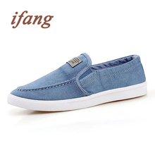 ifang New Arrival Men's Flats British Style Fashion Shoes Solid Leisure Loafers For Male Casual Driving Flats Size 39-45
