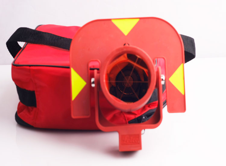 RED color GRP111  prism for leica total stations brand new red color prism for leica total stations