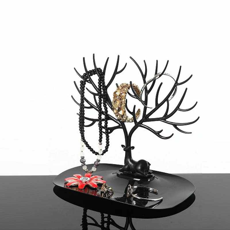2019 Mordoa олененок кольцо для серьг и ожерелья ювелирные браслеты и кулоны Дисплей подставка, лоток дерево хранения стеллажи для выставки товаров Организатор