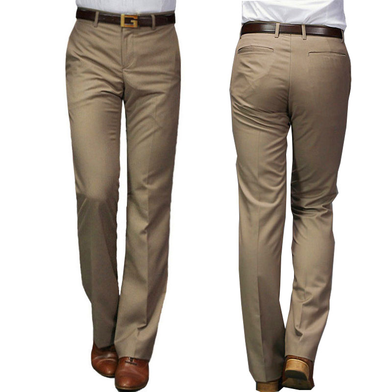 2020 New Modis Flared Pants Male Summer Straight Suit Pants British Leisure Free Hot Feet Trousers Formal Pants For Men