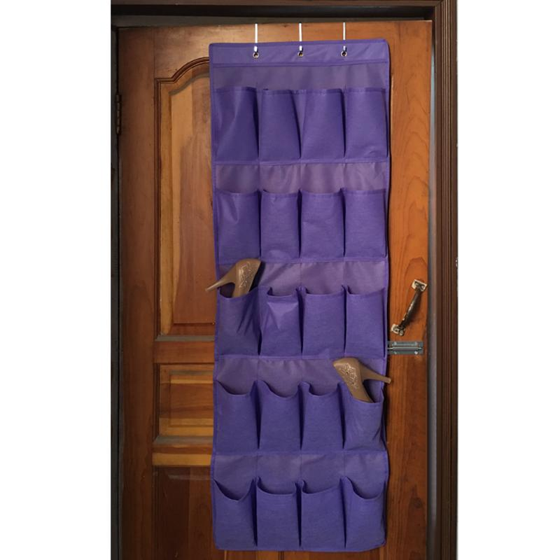 20 Pocket Hanging Shoe Organizers Made with Non Woven Material for Shoe Storage behind the Door 1
