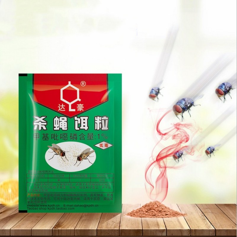 10Packs Powder Fly Killing Bait Anti Fly Repeller Mosquito Flies Killer Insecticide Pest Control