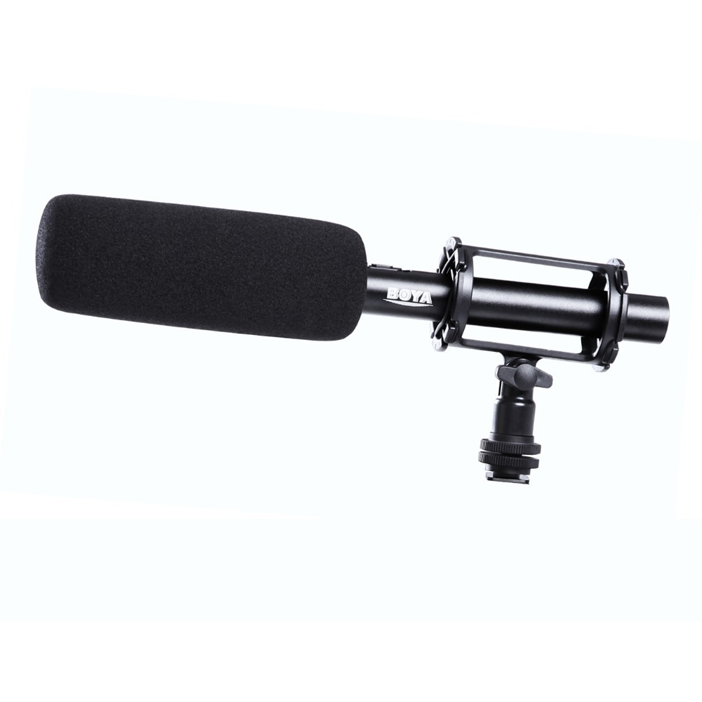 BOYA BY PVM1000 BY-PVM1000 Condenser Shotgun Video/interview Microphone for Canon Nikon Sony DSLR Camera with Free Windshield original new for nihon kohden pvm 2700 pvm 2703 pvm 2701 sb 201p x076 monitor rechargeable battery 12v 3700mah free shipping