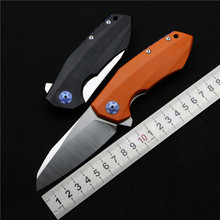 New OEM ZT0456 Flipper folding knife bearing D2 blade G10 handle outdoor Survival camping hunting pocket fruit knife EDC tools