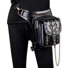 Stereoscopic Personality Waist Handbag Multifunction Steampunk Shoulder Bag Mobile Phone Messenger Outdoor Sports Retro