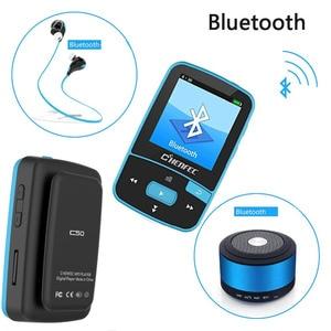 Image 3 - 2020 Sport Clip Bluetooth MP3 Music Player Original ChenFec C50 1.5 Inch Screen With FM Radio, E Book, Clock, Data Free Shipping