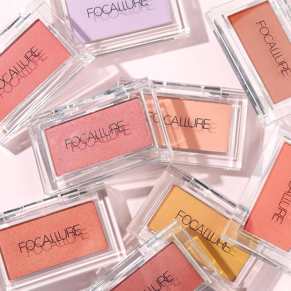 Focallure Makeup Blush With High Pigment Shimmer Matte Finish Face Make Up Long Lasting Easy To Wear With High Quility