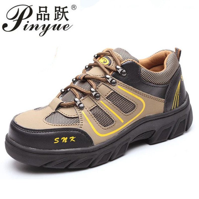 2018 light new sneakers mens summer ventilation work shoes , safety bot anti smashing bots Puncture proof boots
