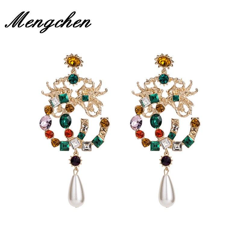 Special Design Luxury Bohemian Wedding Simulated Pearls Earring Women Fashion Dangle Jewelry Multi Color Drop Earrings Drop Earrings  - AliExpress