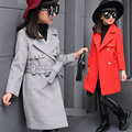 Girls Trench Coats Double Breasted Jackets For Girls Clothing Tops Kids Windbreaker Spring Autumn Outerwear 5-14 Years