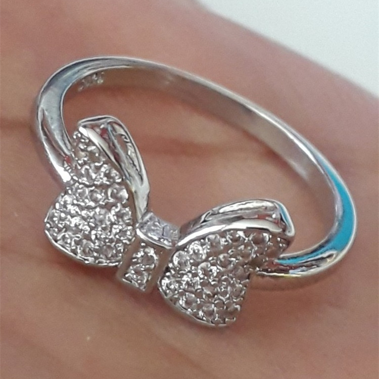 46579ad78 Detail Feedback Questions about Bow Shape Female Cute Silver Color ...