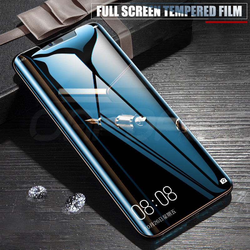 Image 2 - 3D Curved Edge Tempered Glass For Huawei Mate 20 Pro Screen Protector Protective Glass Full on For Huawei Mate 20 Lite 20 X 20X-in Phone Screen Protectors from Cellphones & Telecommunications